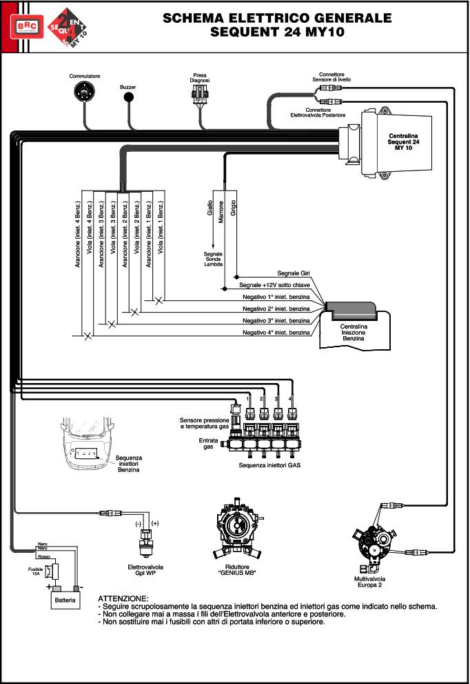 Схема подключения Sequent